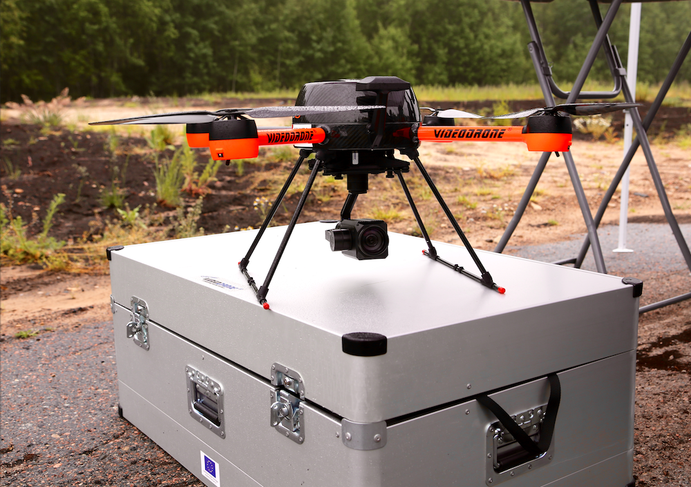 The high-endurance flying UAV platform manufactured by Finnish company VideoDrone